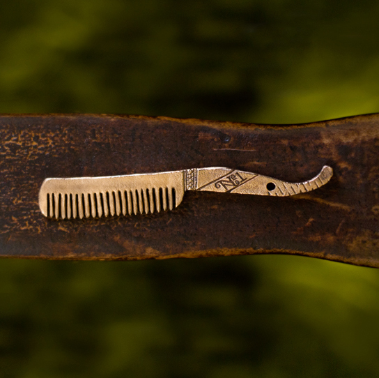 Custom Wooden Beard Comb