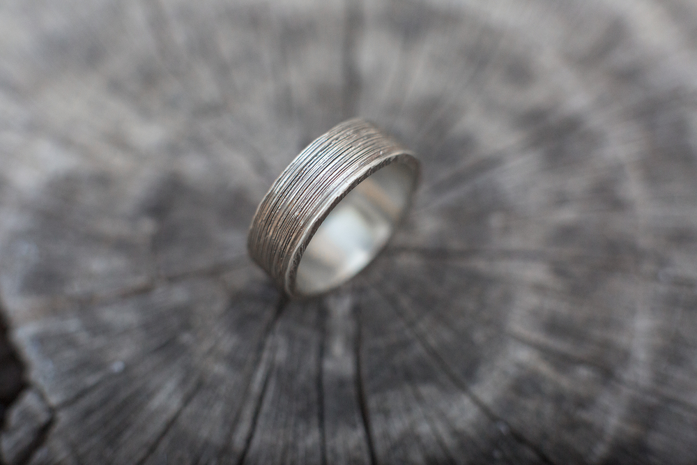 in thumb sterling silver finished affair finish a pattern scandinavian rings patina platinum brushed with patterned camali and ring scandi