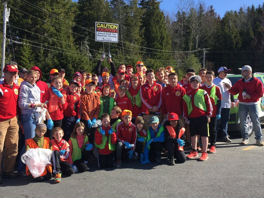 75 Acadia Fire club members participated in the 2016 Earth Day cleanup organized by Friends of Acadia.