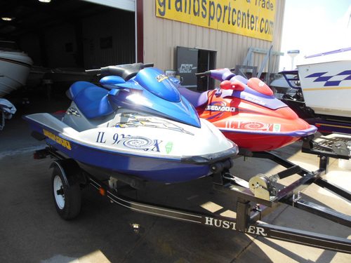 Pair of SeaDoos with Trailer