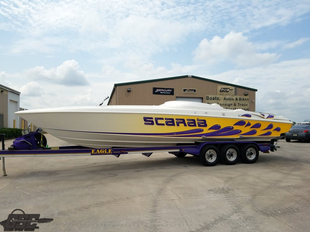 1999 Wellcraft Scarab 33 AVS twin step