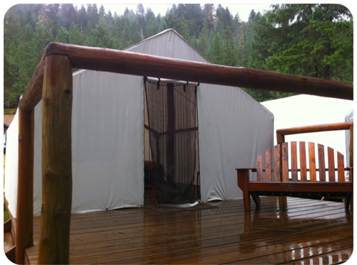 glamping at the nahatlatch