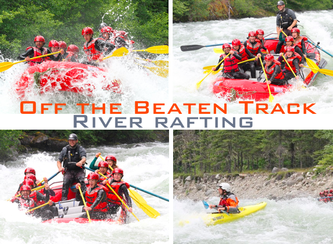 rafting in BC + off beaten track