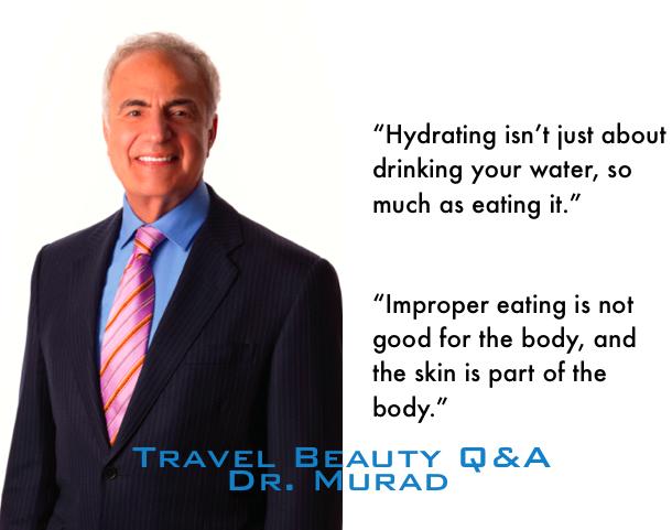 dr murad + travel skincare tips