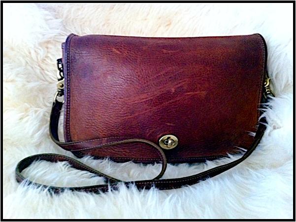 vintage coach shoulder bag portland hawthorn street