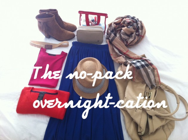 packing tips for an overnight vacation