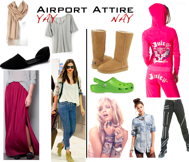 do and don't airport wear