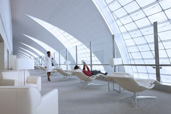 Emirates' Business Class Lounge in Dubai