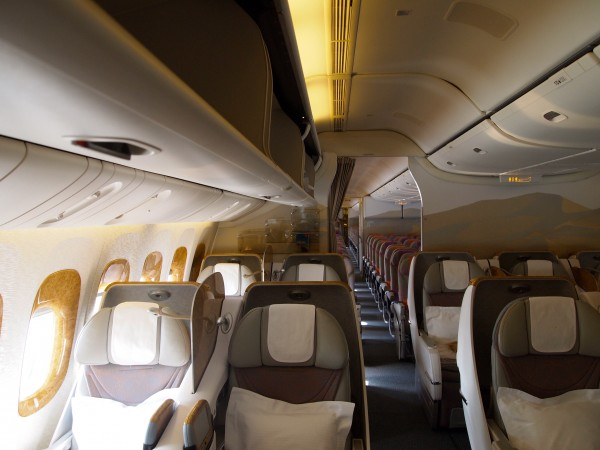 Seattle to Dubai Business Class seats