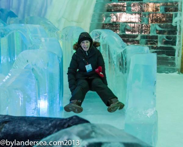 ice slide + hotel de glace
