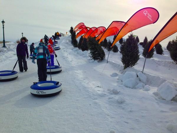 cavanal quebec inner tubes ice slide