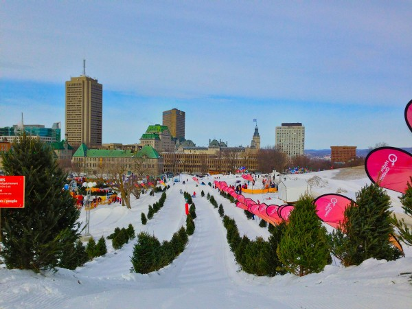 carnaval de quebec ice slide
