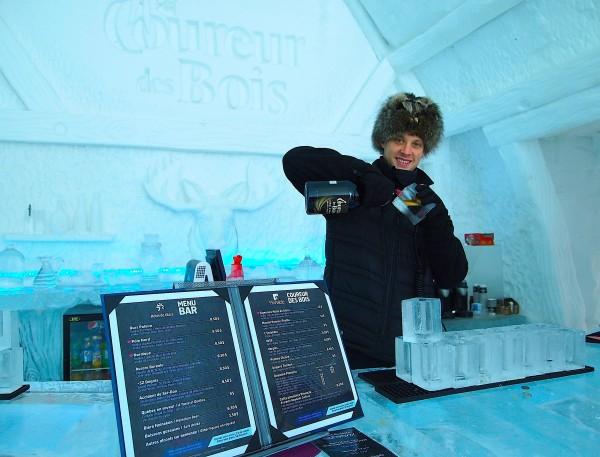 ice hotel bartender