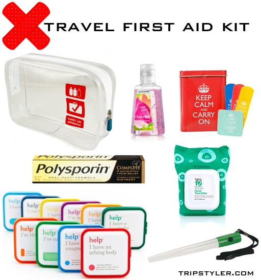 DIY travel first aid kit - what you need