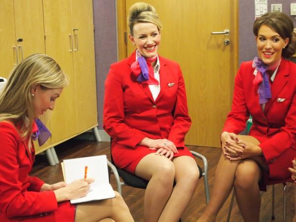 Interviewing Virgin Atlantic Crew about inflight beauty