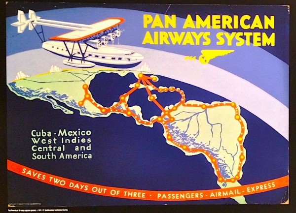 vintage pan am poster grand hotel vancouver art gallery