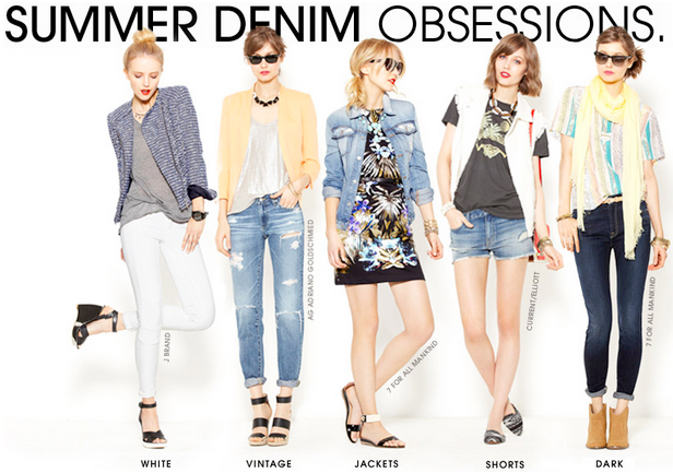 summer denim packing inspiration