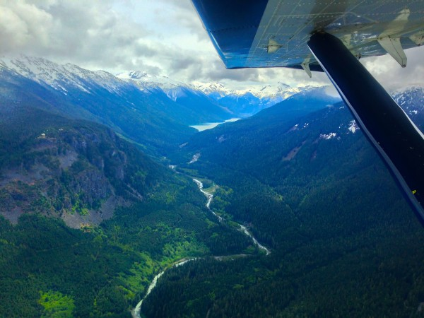 flying up to whistler seaplane