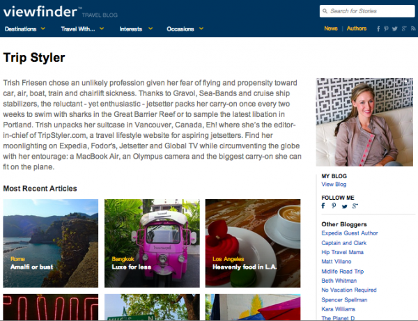 trip styler + expedia viewfinder