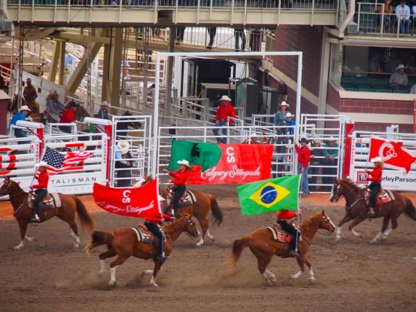 start of calgary stampede 2013