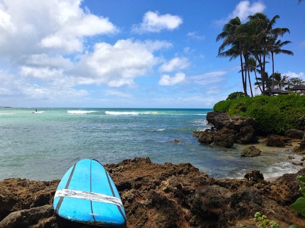 surf beach beside turtle bay