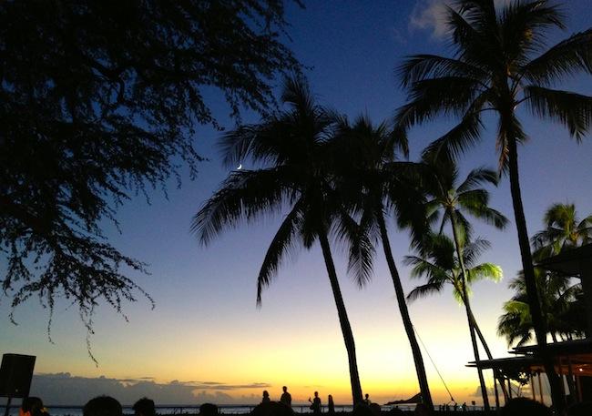 sunset hnl