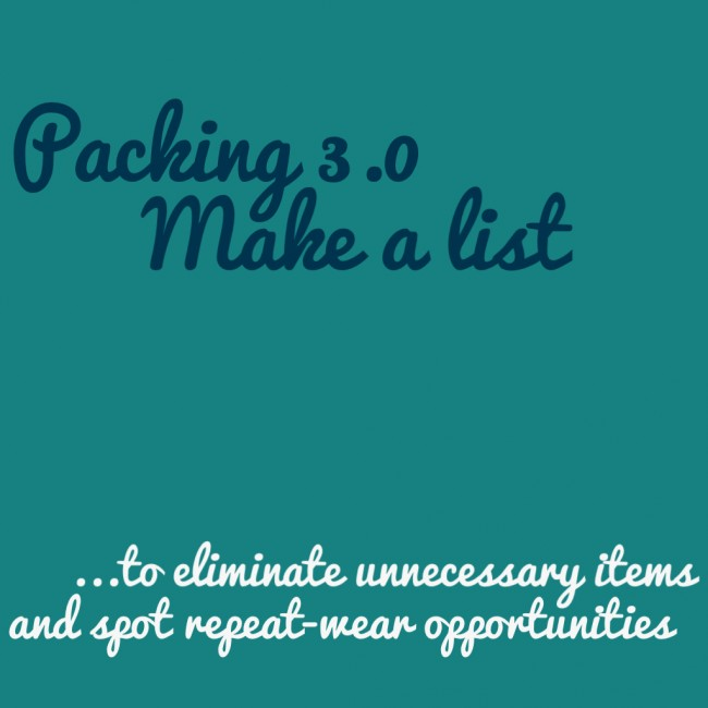 how to pack + make a list