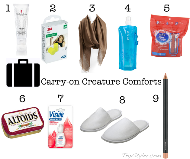 carry-on comfort essentials