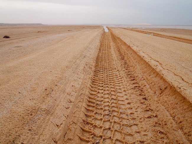 tire treads in the sahara