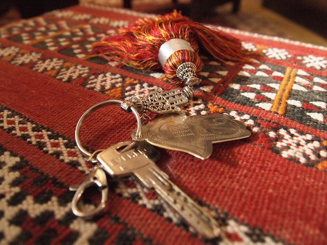Gorgeous tassel-clad room keys