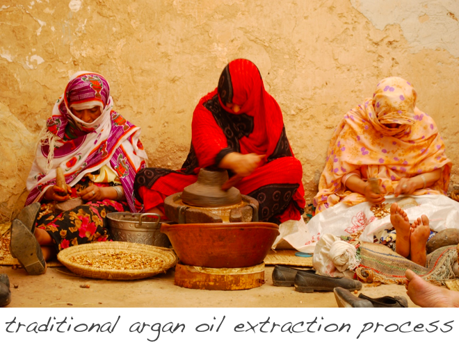traditional argan oil extraction