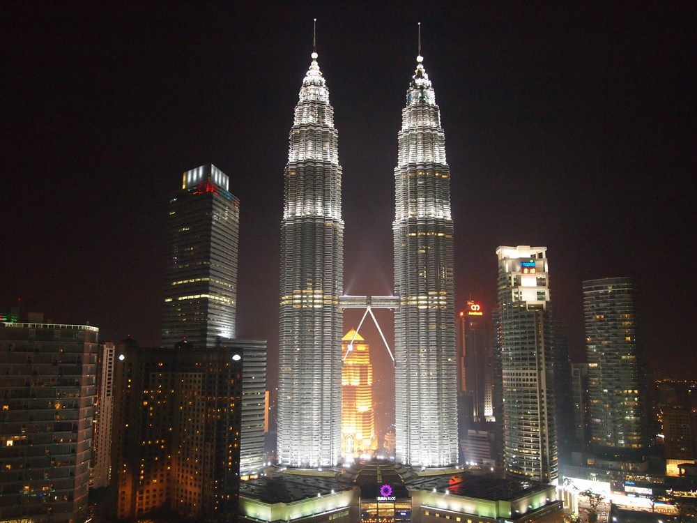 Kuala Lumpur's most famous landmark: Patronas Towers, a 25-minute walk from the hotel