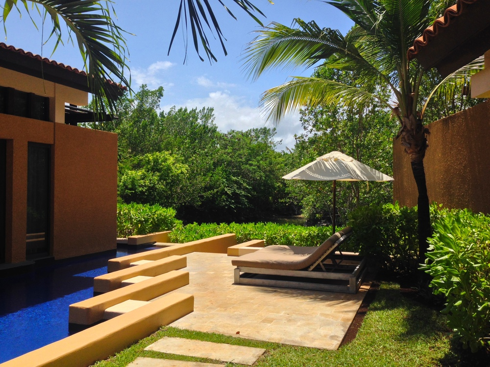 Our villa's private plunge pool {every villa comes standard with a private pool}
