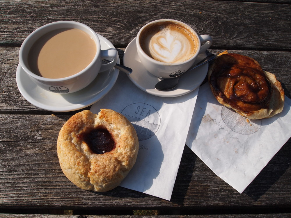 Our top-pick coffee and breakfast stop: Sea Level Bakery + Coffee {serving Stumptown Coffee!}.