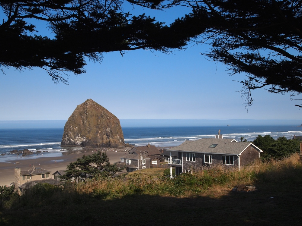 Cannon Beach from above.
