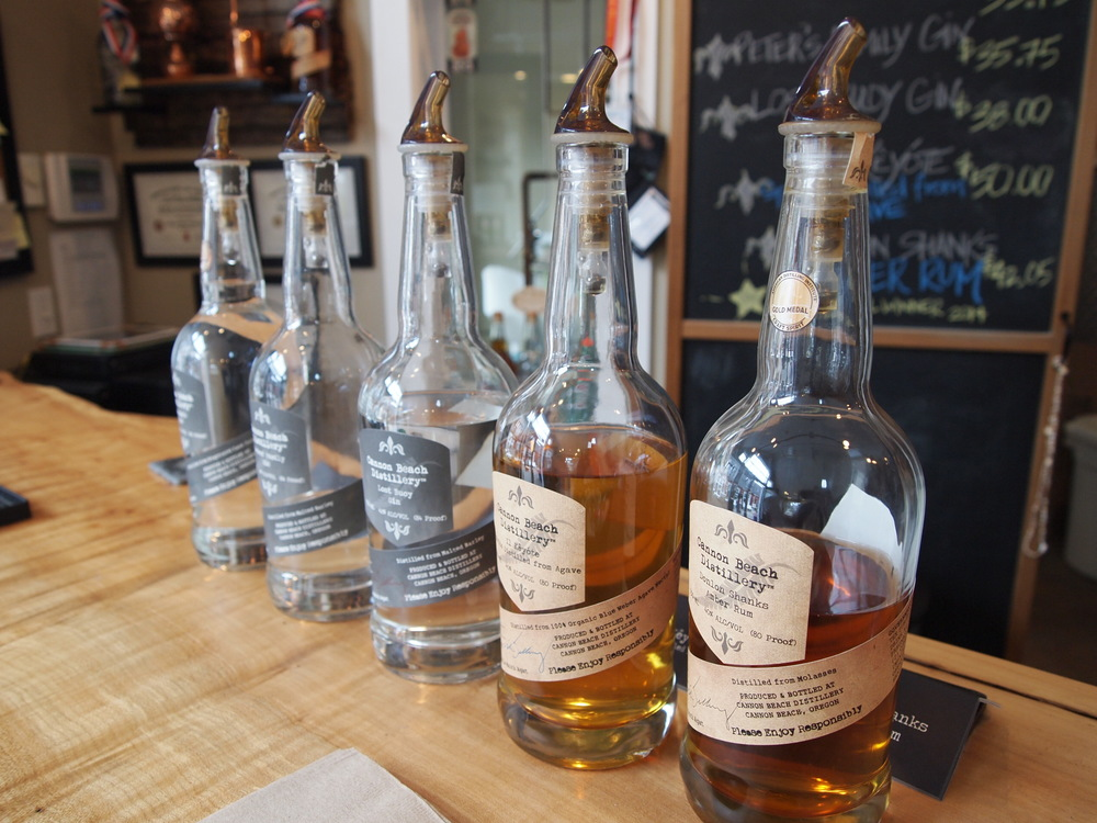 Stopping for a tipple at the Cannon Beach Distillery { Yelp link }.