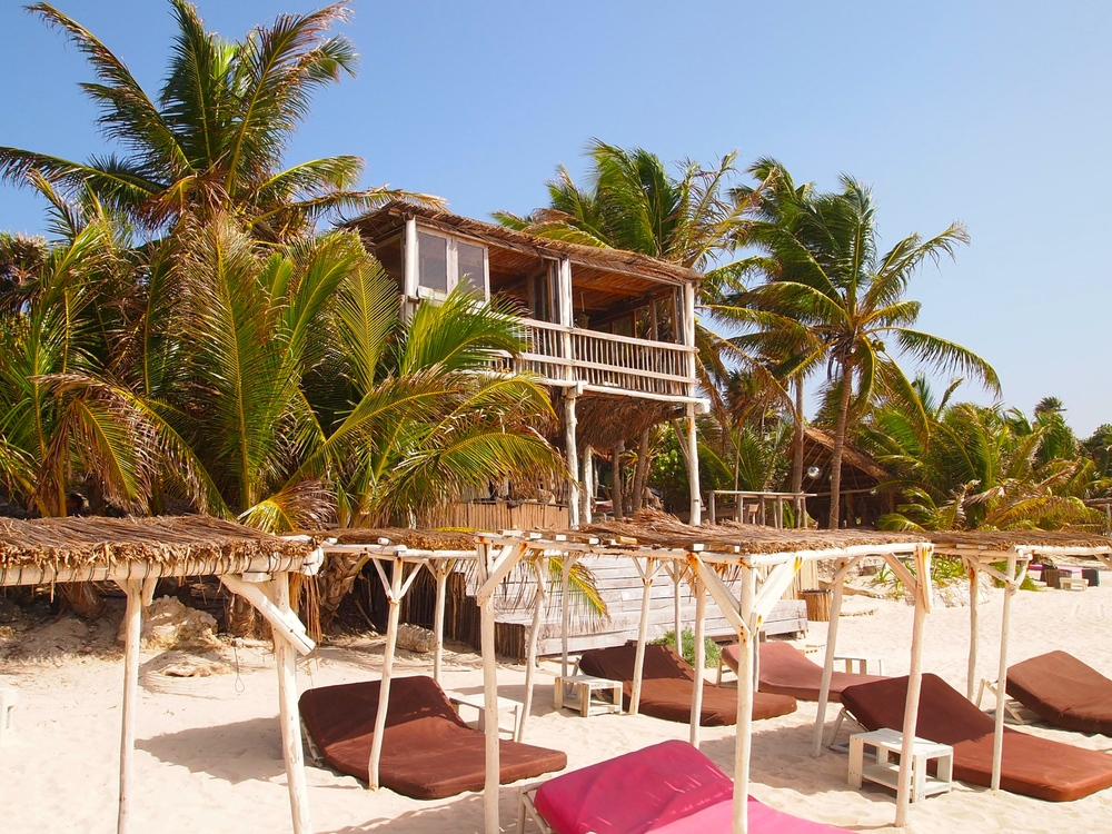Mexico. Beach club at Papaya Playa Project.