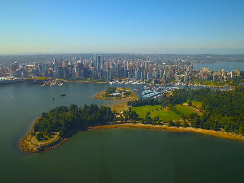 Arial view of vancouver helijet