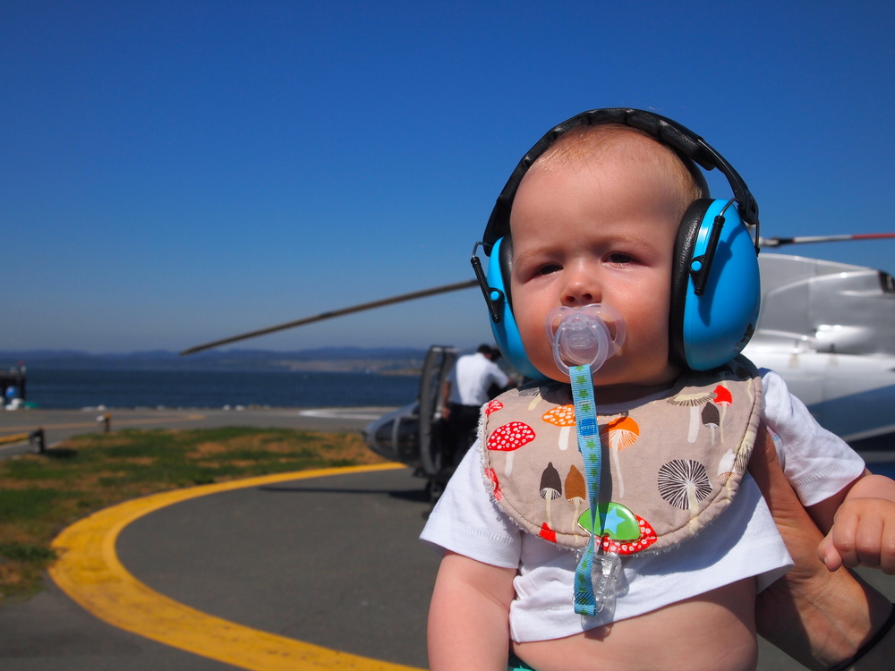 babies on helijet