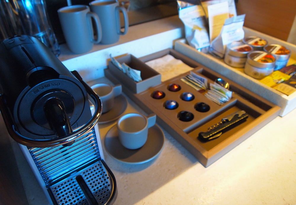 Still one of my all-time favorite guest amenities: in-room Nespresso