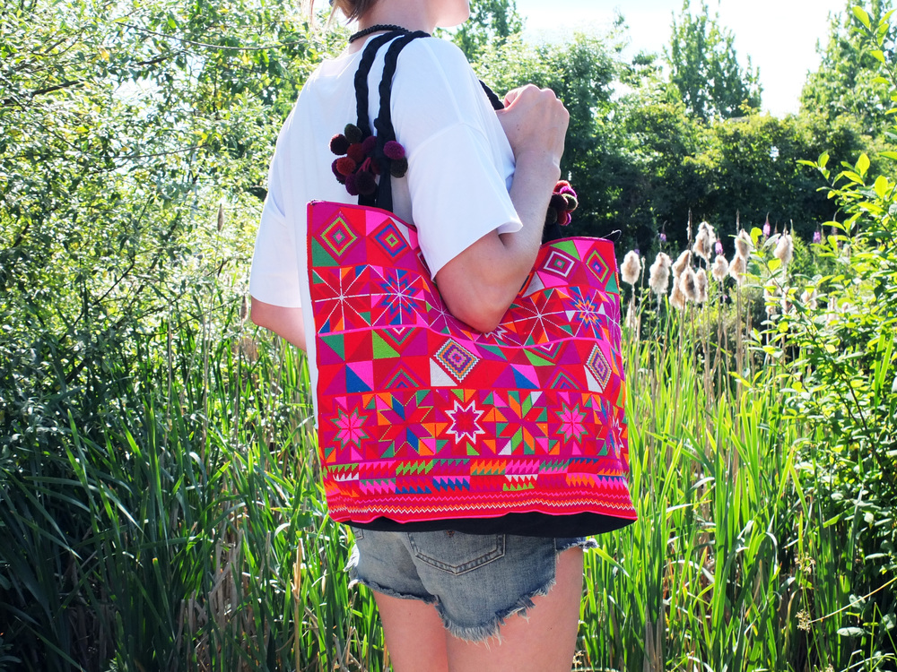 Wearing: Thai Golden Triangle Micro-Print Purse // $89
