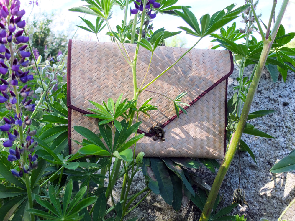 Thai Envelope Clutch in Earth // $35