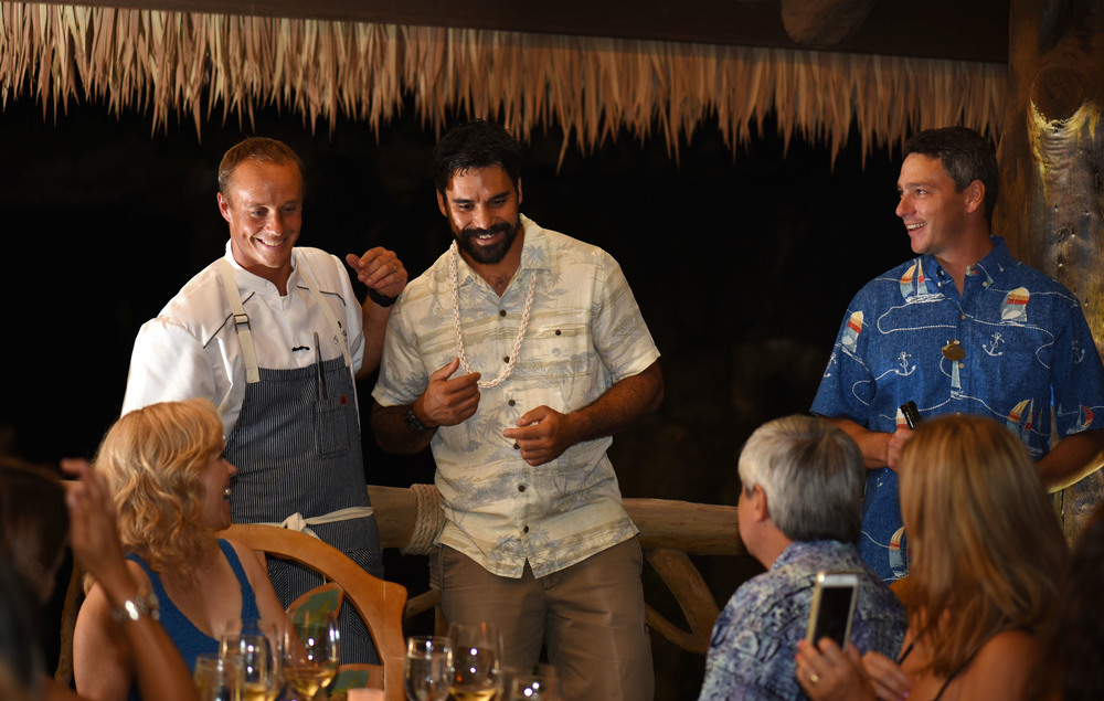 Chef Mike Lofaro and Kainoa Horcajo introduce the Ka Malama Dinner