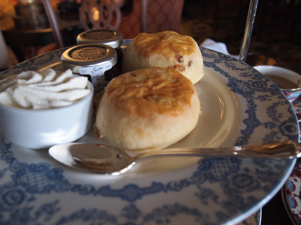 Afternoon Tea: The rainsin scones with clotted cream and jam