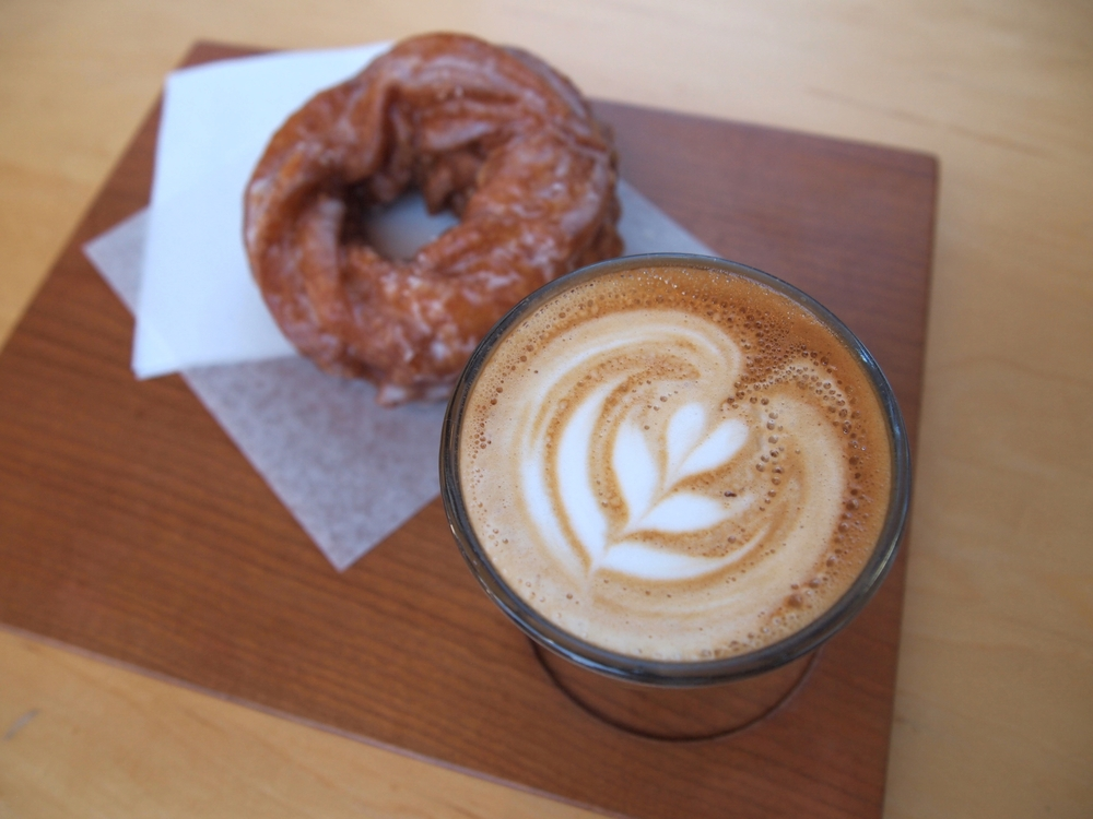 Coffee and donuts at Hey Happy