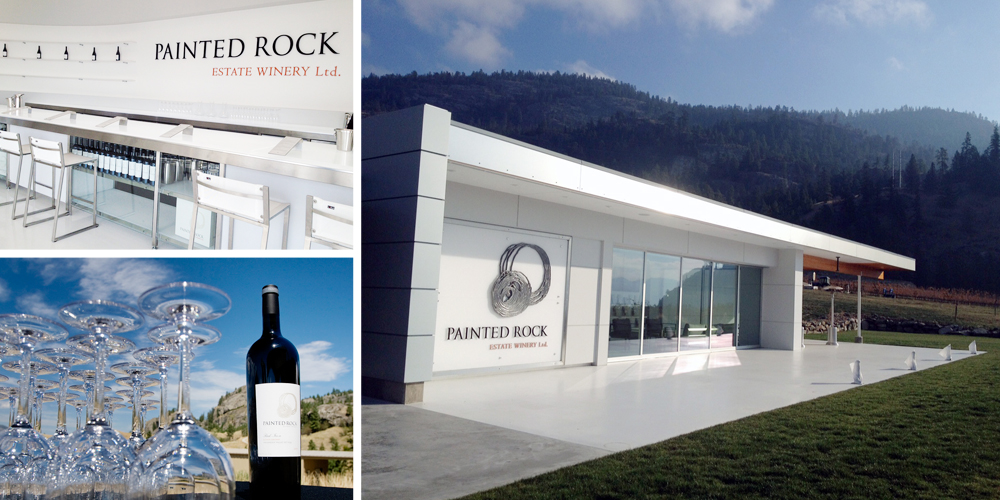 Painted Rock Estate Winery , Penticton  Wine pick: Syrah  This stunning, modern tasting room provides a beautiful setting for beautiful wine. Trust me — you'll want to spend an afternoon on the patio with a bottle of wine making all your friends jealous via Instagram.