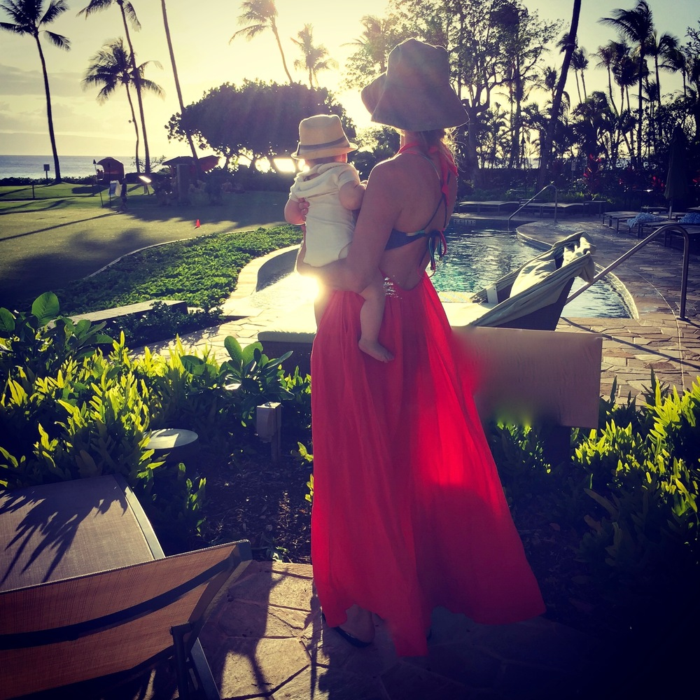 Maui: Introducing Baby Styler to the joys of the Pacific Isles.