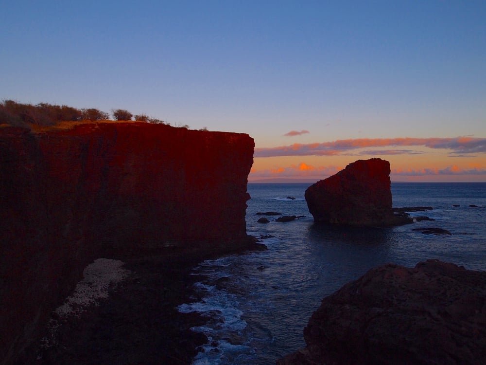 Lanai: Sweetheart Rock. One of the most incredible places in the world to see the sunset.