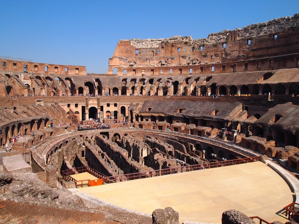 Rome: Seeing the Colosseum, built from 72AD-80AD.