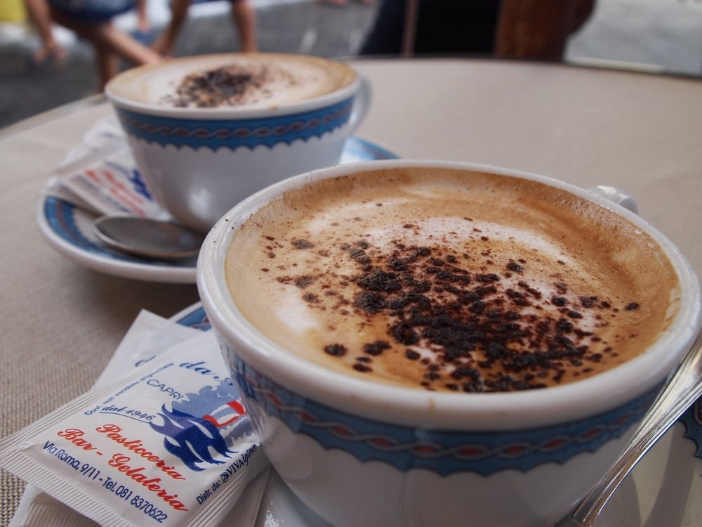 Capri: and cappuccino...
